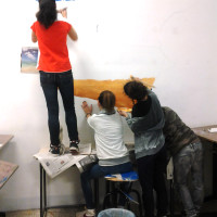 Murales scuola media Massa Marittima