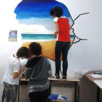 Pittura Murales scuola media Massa Marittima