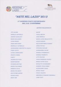 Arte nel Lazio 2013