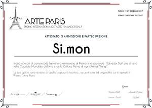 Attestato partecipazione Parigi Si.mon